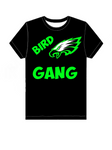 Bird Gang SS T-Shirt - Green Hearts Pink