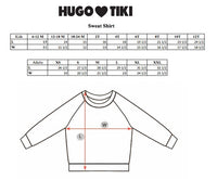 Hugo Loves Tiki Sweatshirt | Blue Squirrel - Green Hearts Pink