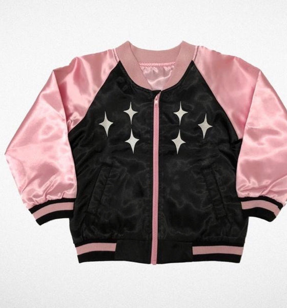Tiny Whales Satin Jacket | Stardust