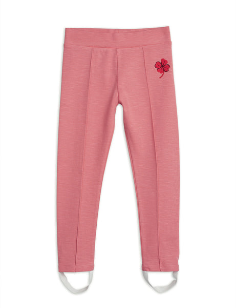 Mini Rodini Clover Ski Pants | Pink - Green Hearts Pink