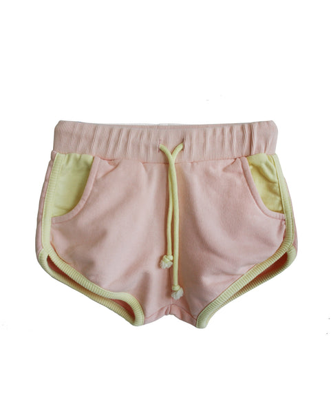 Bandy Button Short | Eta - Green Hearts Pink
