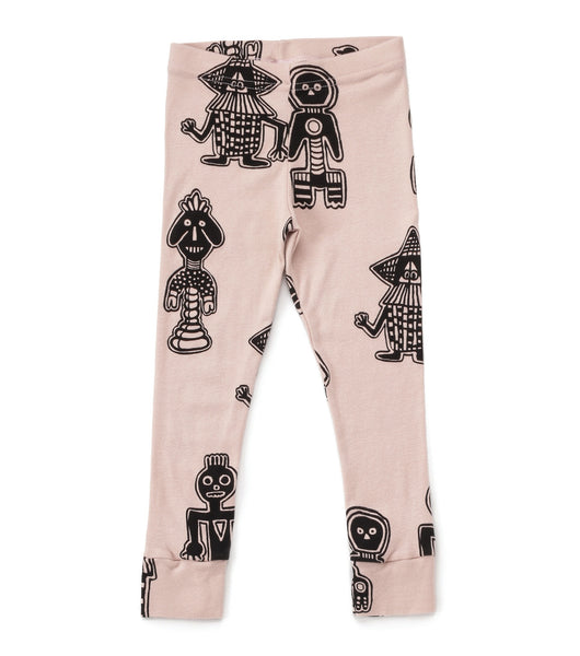 Nununu Tribal Dancers Leggings | Powder Pink