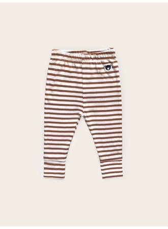 Huxbaby Leggings | Striped Terracotta
