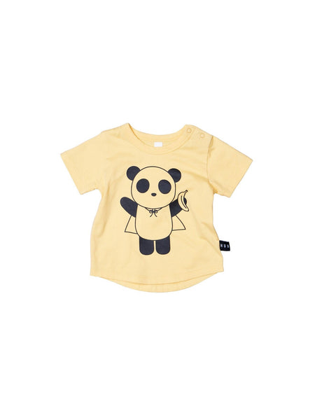 Huxbaby Super Panda T- Shirt | Banana - Green Hearts Pink
