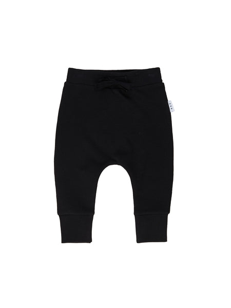 Huxbaby Smiley Drop Crotch Pants | Black