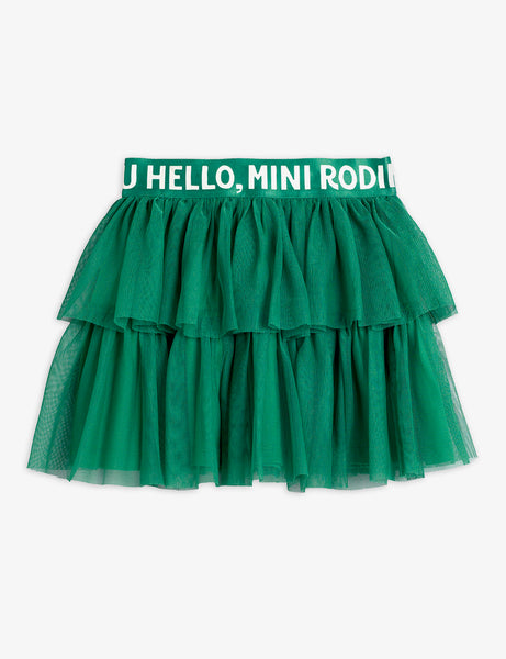 Mini Rodini Tulle Skirt | Green
