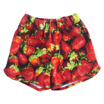 Romey Loves Lulu Shorts | Stawberries - Green Hearts Pink