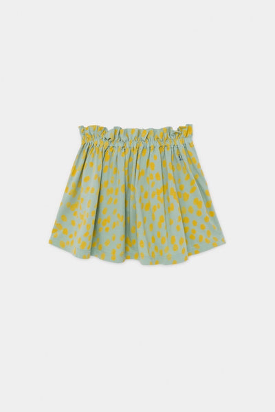 Bobo Choses All Over Leopard Flared Skirt - Green Hearts Pink