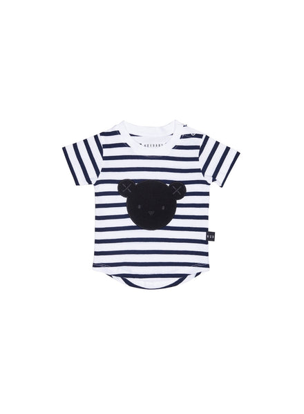 Huxbaby Hux Stripe T-Shirt | Navy - Green Hearts Pink
