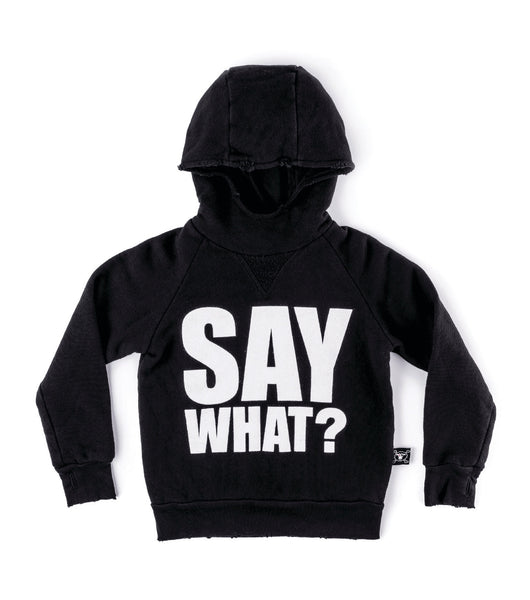Nununu Say What Hoodie | Black