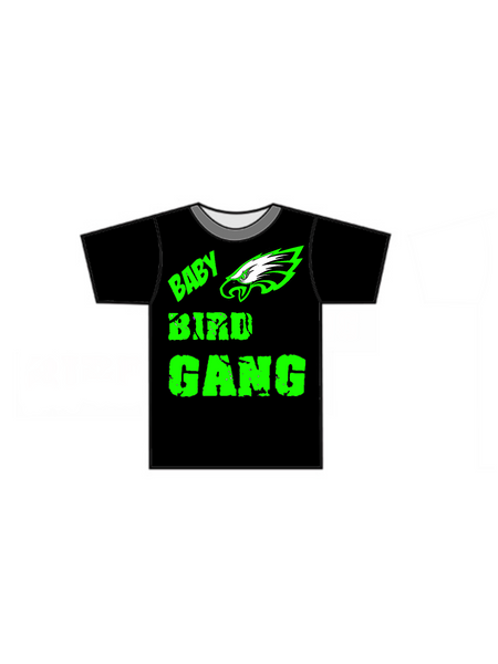 Baby Bird Gang SS T-Shirt - Green Hearts Pink