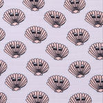 Kip&Co x Hugo Loves Tiki Flat Sheet | Clams - Green Hearts Pink