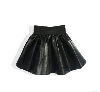 Circle Skirt | Black - Green Hearts Pink