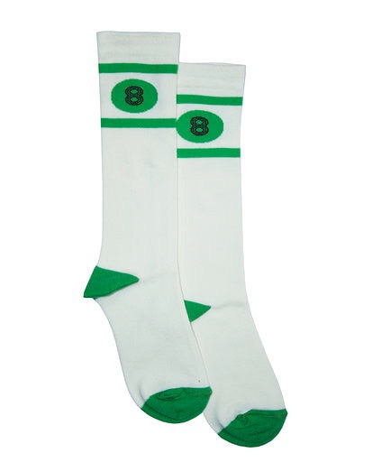 Bandy Button Socks | Ixy - Green Hearts Pink