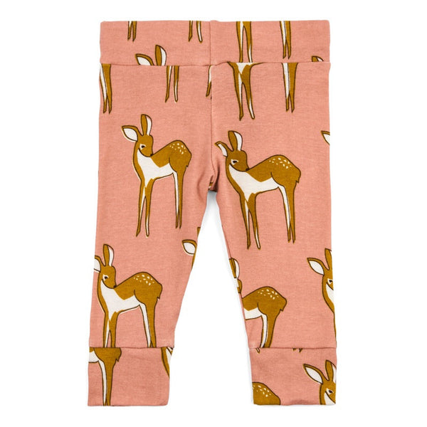 MILKBARN Leggings | Doe - Green Hearts Pink