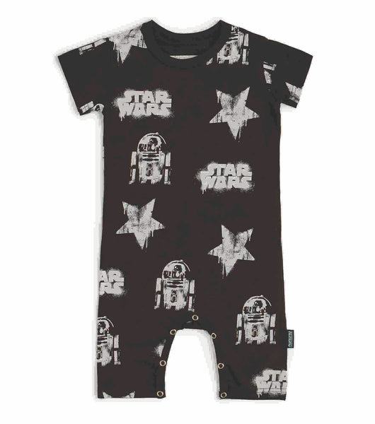Nununu Star Wars All Over Playsuit | Black