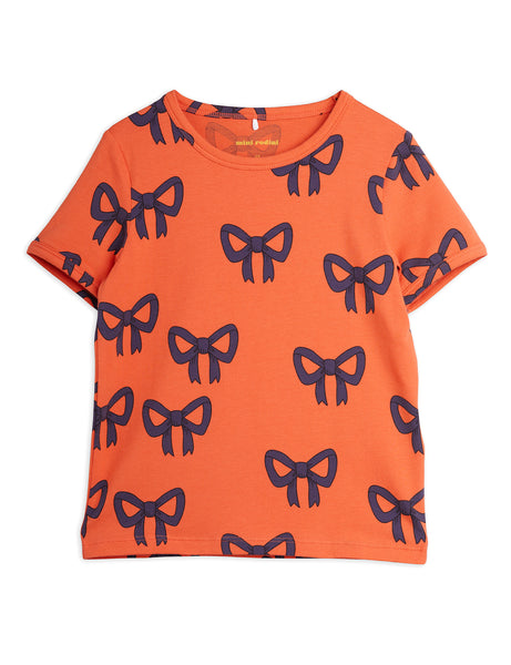 Mini Rodini Bow AOP SS Tee | Red