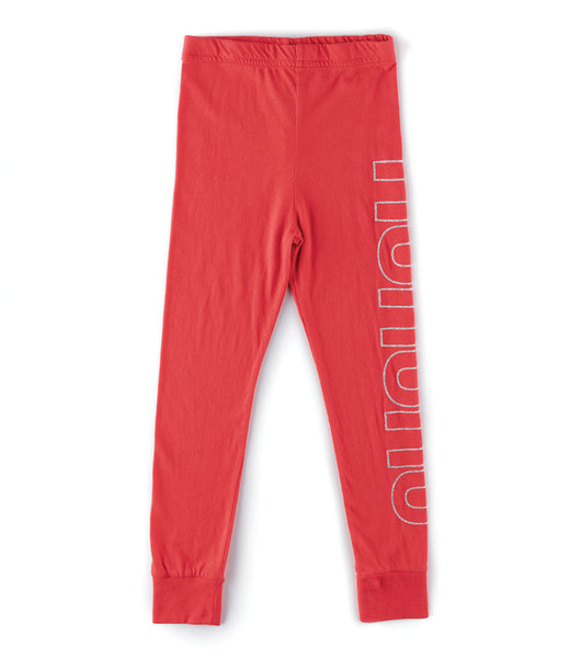 Nununu Leggings | Red - Green Hearts Pink