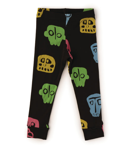 Nununu Rowdy Masks Leggings | Black - Green Hearts Pink