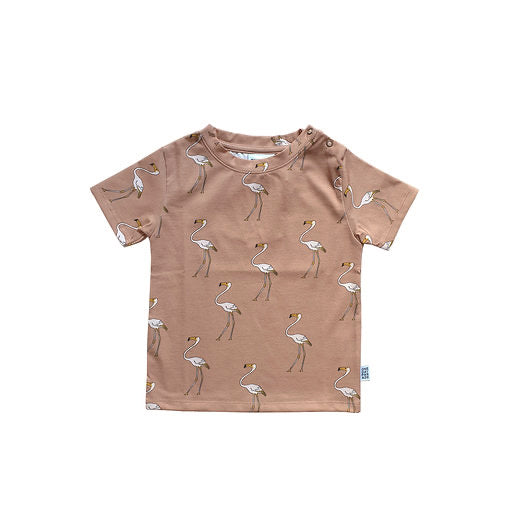 One Day Parade T-Shirt | Flamingo - Green Hearts Pink
