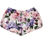 Romey Loves Lulu Swim Shorts | Roses - Green Hearts Pink