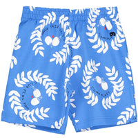 Beau Loves Ping Pong Club Shorts | Ink Blue - Green Hearts Pink