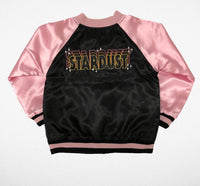 Tiny Whales Satin Jacket | Stardust - Green Hearts Pink