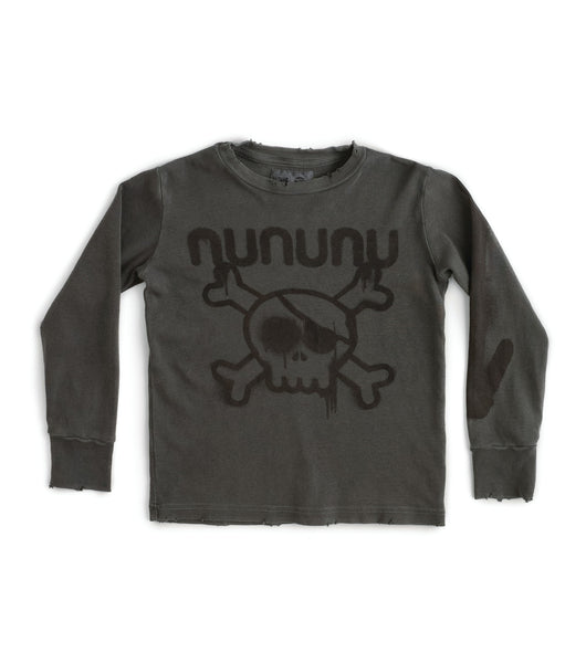 Nununu Sprayed T-Shirt | Vintage Grey