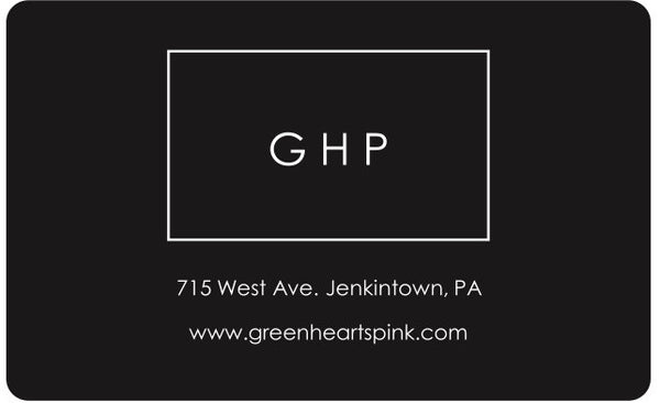 Gift Card - Green Hearts Pink