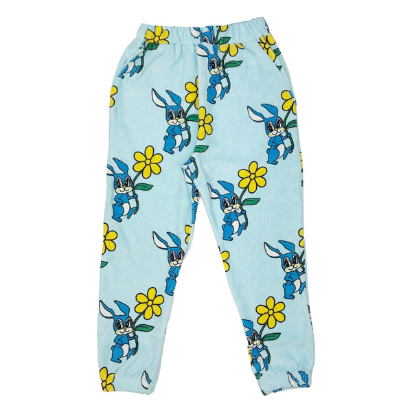 Hugo Loves Tiki Terry 80's Sweatpants | Blue Bunnies
