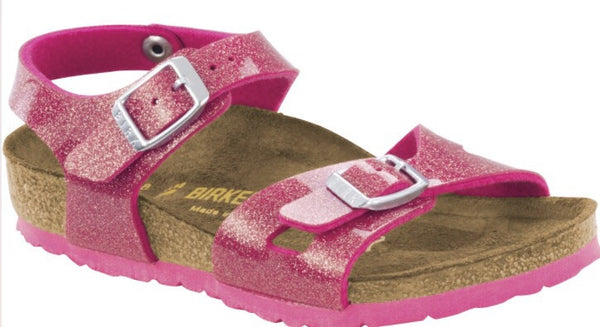 Birkenstock Rio Galaxy | Rose - Green Hearts Pink