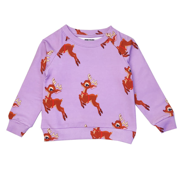 Romey Loves Lulu Sweatshirt | Reindeer Purple