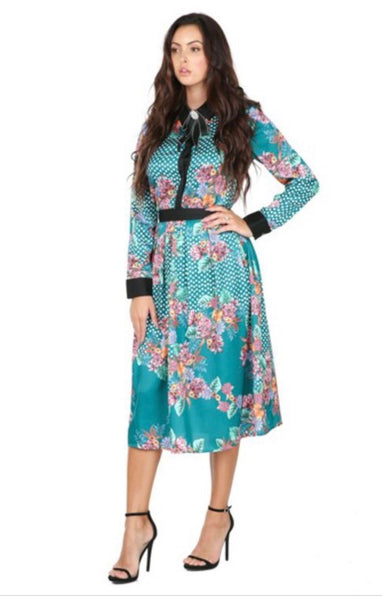 Printed Co-ord Skirt Set | Green