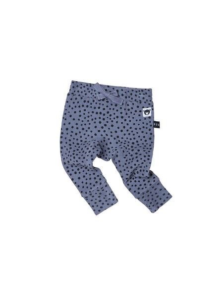 Huxbaby Freckle Drop Crotch Pant | Deep Blue - Green Hearts Pink