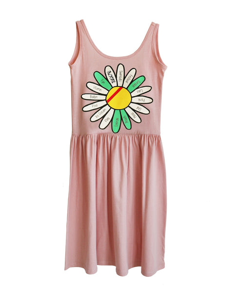 Bandy Button Tank Dress | Hay - Green Hearts Pink