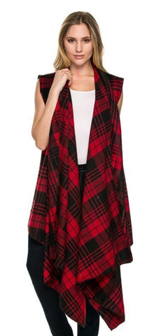 Plaid Vest | Red