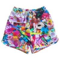 Romey Loves Lulu Shorts | Toys - Green Hearts Pink