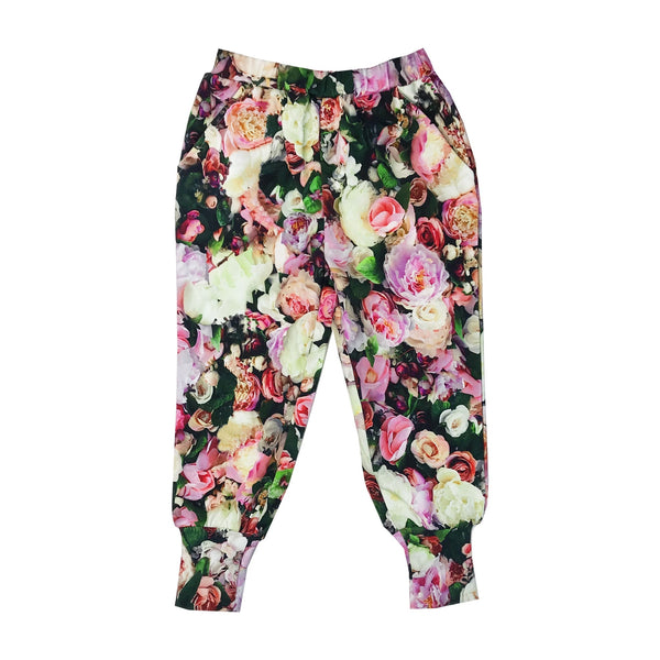 Romey Loves Lulu Long Cuff Sweatpants | Peonies