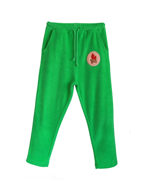 Bandy Button Joggers | Funko - Green Hearts Pink