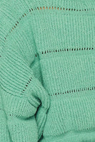 Cropped Sweater - Green Hearts Pink