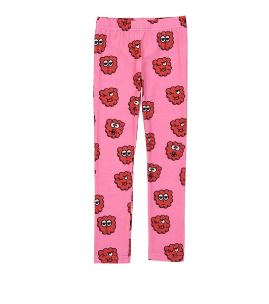 Hugo Loves Tiki Leggings | Pink Raspberry - Green Hearts Pink