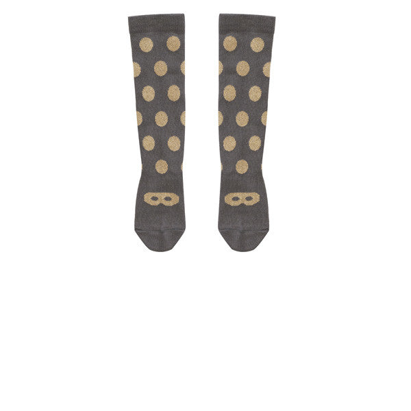 Beau Loves Knee High Socks | Gold + Dots + Mask - Green Hearts Pink