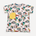 Indikidual Kite Tee | Yellow - Green Hearts Pink