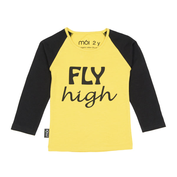 Moi T-Shirt | Fly Yellow - Green Hearts Pink