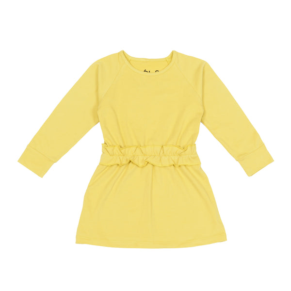 Moi Play Dress | Yellow - Green Hearts Pink