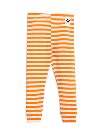 Mini Rodini Rib Leggings | Orange