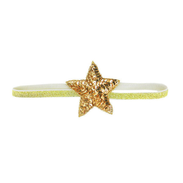 Oh Baby! Headband | Sequin Star - Green Hearts Pink