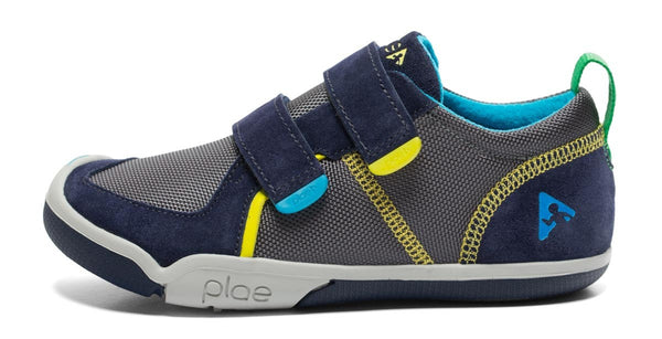 Plae Ty Sneakers | Navy + Steel - Green Hearts Pink