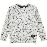 Molo Mickay Sweatshirt | X-Ray Animals - Green Hearts Pink