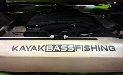 "KAYAK BASS FISHING Vinyl 22"" Decal"